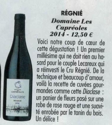 Commentaire Diaclase Cuisine et Vins de France
