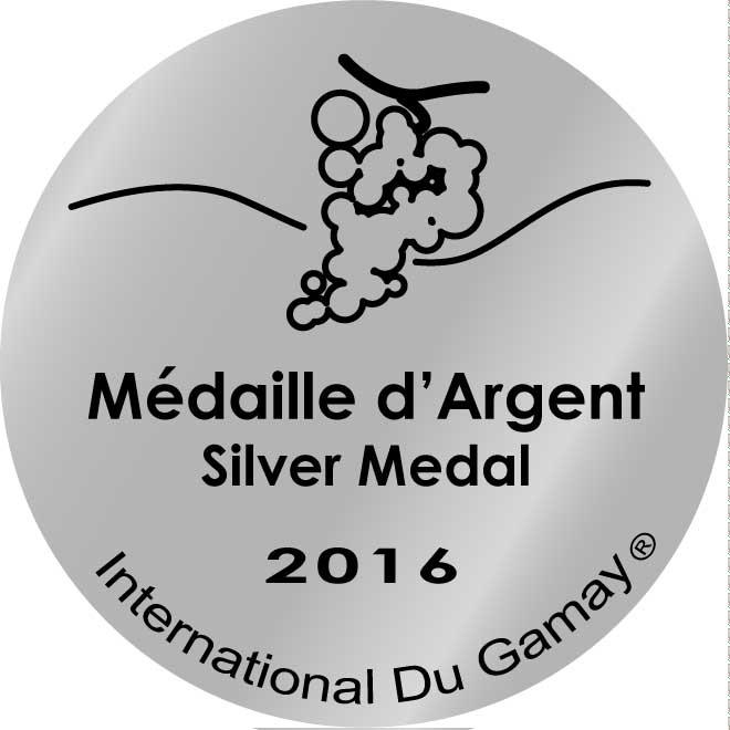 Médaille d'argent Concours International du Gamay 2016
